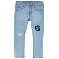 Pantalon lung copii Chicco, denim, 122
