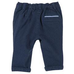Pantalon lung copii Chicco, elastic, albastru, 80