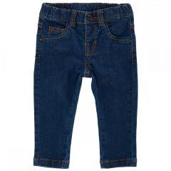 Pantalon lung denim copii Chicco, baieti, albastru inchis, 92