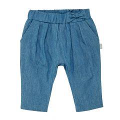 Pantalon lung jeans, copii, Chicco, fetite, albastru, 56