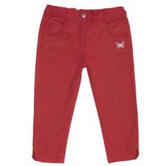 Pantalon lung pentru copii Chicco, fete, rosu, 128