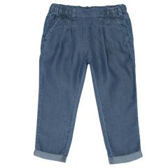 Pantalon lung copii, Chicco, fetite, denim, 110