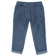 Pantalon lung copii, Chicco, fetite, denim, 24459