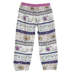 Pantalon lung fetite Chicco, multicolor, 128