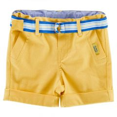 Pantalon scurt copii Chicco, baieti, galben, 62