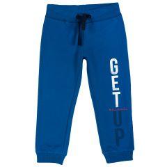 Pantalon trening copii, mansete elastice, albastru deschis, 116