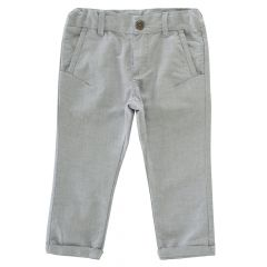 Pantalong lung copii Chicco, gri, 98