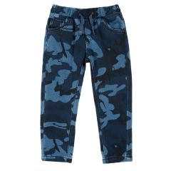 Pantalon lung copii Chicco, camuflaj bleumarin, 98