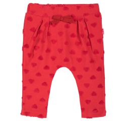 Pantaloni lungi copii Chicco, jerse, rosu, 98
