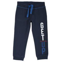 Pantalon trening copii, mansete elastice, albastru inchis, 116