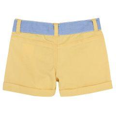 Pantaloni copii scurti Chicco, galben deschis, 116