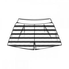 Pantaloni scurti copii Chicco, alb cu negru, 98