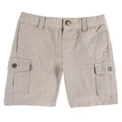 Pantaloni scurti copii Chicco, bej cu model, 98