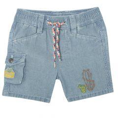 Pantaloni scurti copii, Chicco, albastru denim, 68