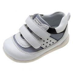 Pantof sport copii Chicco G32, piele, alb, 23