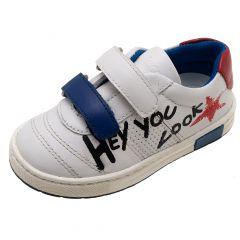 Pantofi sport Chicco Caster, piele naturala, alb, 26