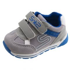 Pantof sport copii Chicco, gri cu albastru, 18