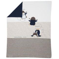 Paturica copii cu husa detasabila Chicco, albastru cu crem, 99
