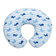 Perna alaptare Chicco Boppy 4 in 1, Blue Whales