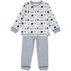 Pijama copii Chicco, alb, 98