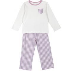 Pijama copii Chicco, alb, 104
