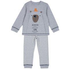 Pijama copii Chicco, gri, 128