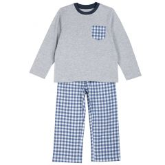 Pijama copii Chicco, gri, 98