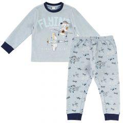Pijama copii Chicco, maneca lunga, turcoaz, 116