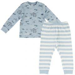 Pijama copii Chicco, maneca lunga, turcoaz, 128
