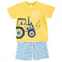 Pijama copii Chicco, maneca scurta, baieti, galben, 122