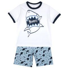 Pijama copii Chicco, maneca scurta, turcoaz, 122