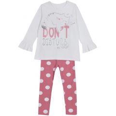 Pijama copii Chicco, roz cu albastru, 122