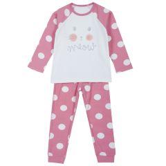 Pijama copii Chicco, roz cu albastru, 92