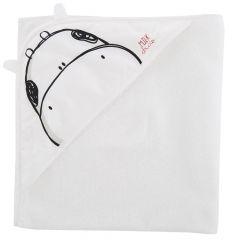Prosop baie bebelusi Chicco cu colt-gluga, alb cu desen negru, 99