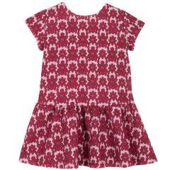 Rochie copii Chicco, rosu cu alb, 110