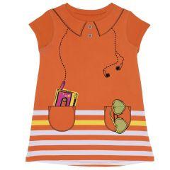 Rochie fete Chicco, maneca scurta, portocaliu, 03021