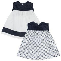 Rochie reversibila Chicco, albastru cu alb, 93672