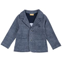 Jacheta copii Chicco, bleumarin cu model, 104
