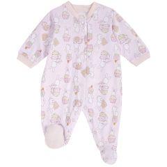 Salopeta bebe Chicco, inchidere intre picioare, roz, 62