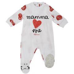 Salopeta bebelusi Chicco, cu botosei incorporati, inchidere spate, crem, 56
