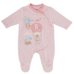 Salopeta bebelusi Chicco, deschidere fata, cu botosei incorporati, roz, 62