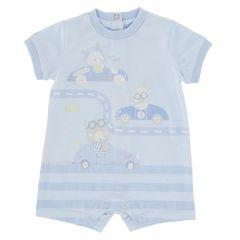 Salopeta bebelusi Chicco, scurta, bleu, 68