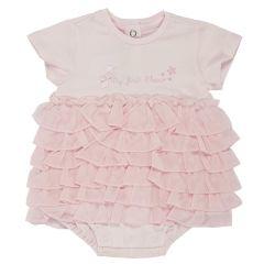 Salopeta bebelusi Chicco, scurta, inchidere spate, fetite, roz, 50