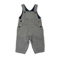Salopeta pantaloni lungi cu bretele, copii Chicco, baieti, gri, 56