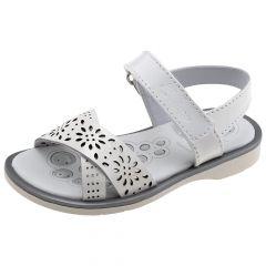Sandale copii Chicco, piele naturala, alb, 32