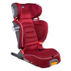 Scaun auto Chicco Fold&Go I-Size Isofix, Red Passion (Rosu), 100-150cm, 3-12ani