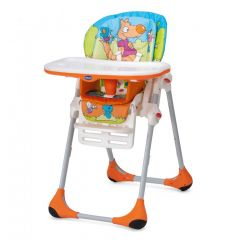 Scaun de masa Chicco Polly 2 in 1, WoodFriends, 6luni+