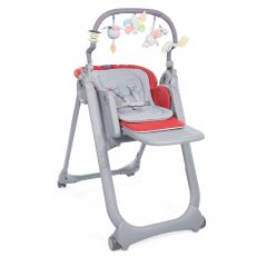 Scaun de masa Chicco Polly Magic Relax, Scarlet, 0luni+