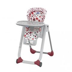 Scaun de masa Chicco Polly Progres 5 in 1, Cherry, 0 luni+