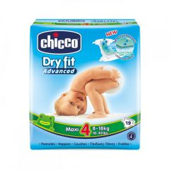 Scutece Chicco Dry Fit Advanced Maxi, nr.4, 8-18kg, 19buc